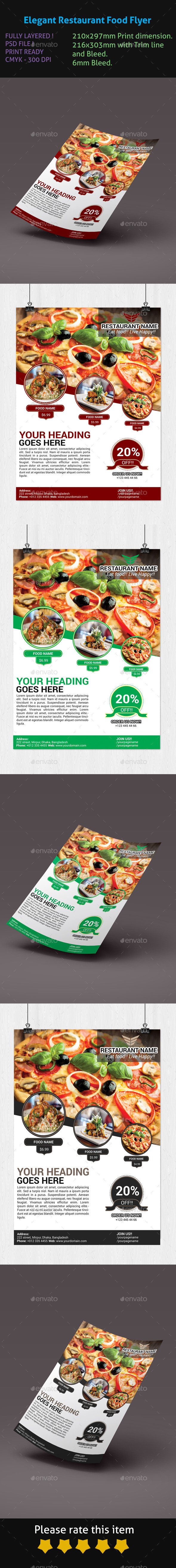 Elegant Restaurant Food Flyer - Restaurant Flyers