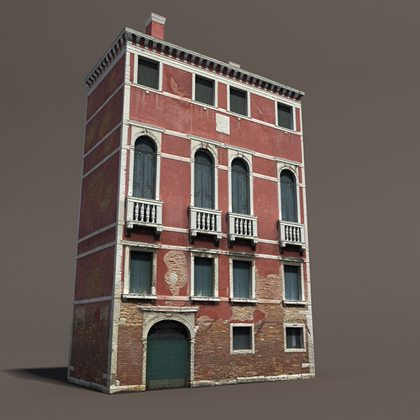 Venice Building #133 Low Poly Building - 3DOcean Item for Sale