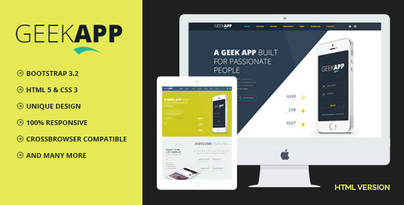 GeekApp - Creative App Landing Page - Apps Technology