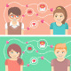 Dating Concepts with Two Happy Couples - GraphicRiver Item for Sale