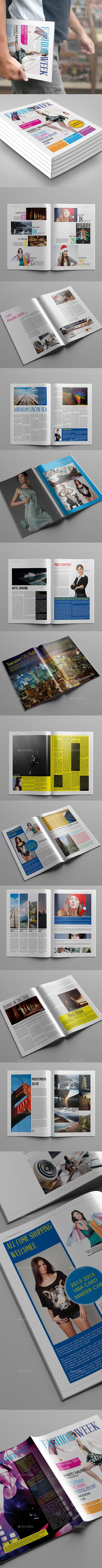 Fashion Week Magazine Template - Magazines Print Templates