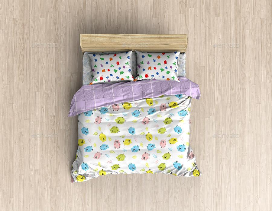 Bed Linens Mock Up Bedding Set Template By Ayashi Graphicriver