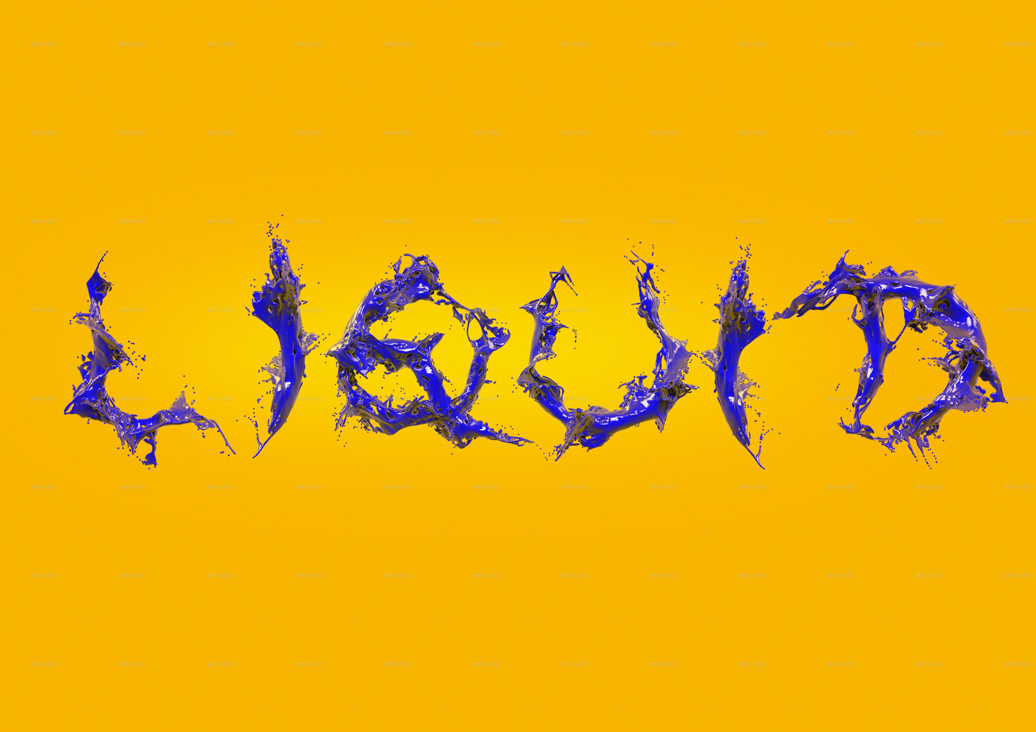 liquid alphabet by teddpermana graphicriver