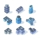 Isometric Business City Center Buildings - GraphicRiver Item for Sale