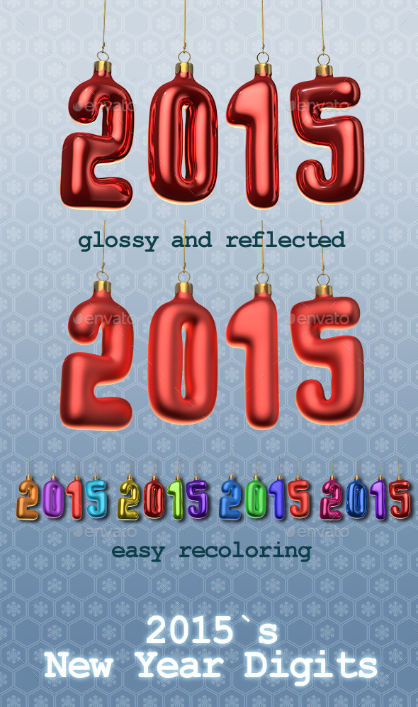2015`s New Year Digits - Miscellaneous Isolated Objects