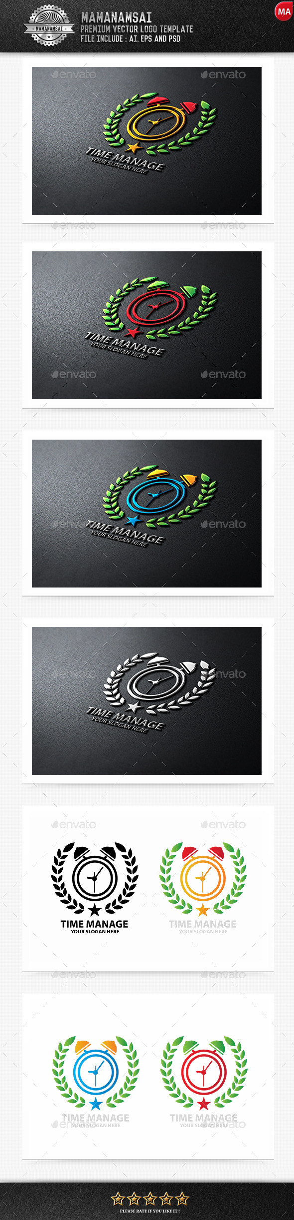 Time Manage Logo - Logo Templates