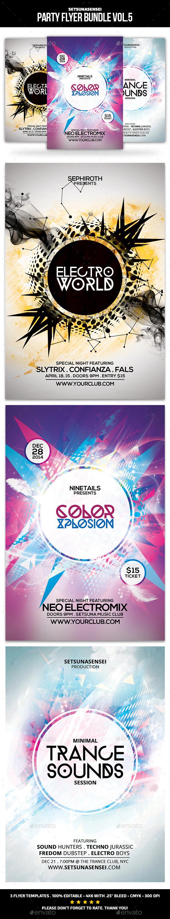 Party Flyer Bundle Vol.5 - Clubs & Parties Events
