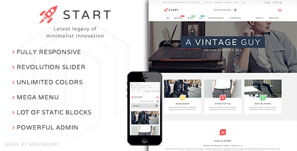 Start - Multi-Purpose Responsive Magento Theme - Fashion Magento