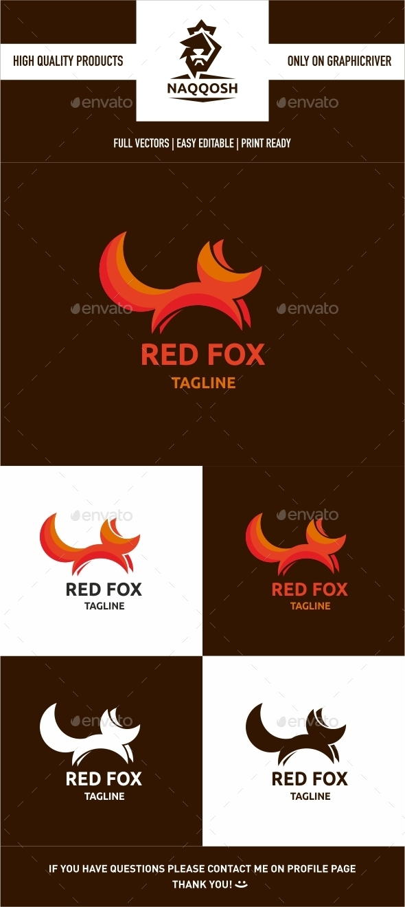 Red Fox - Animals Logo Templates