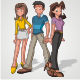 6 Animated Teenage Models - GraphicRiver Item for Sale
