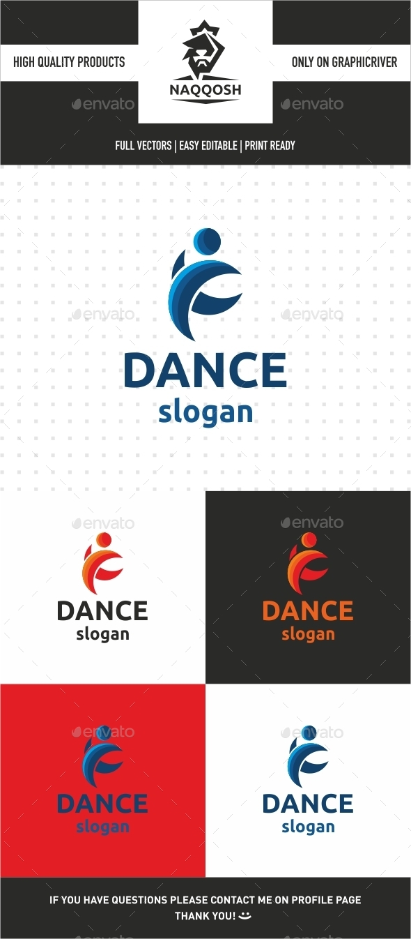 Dance - Humans Logo Templates