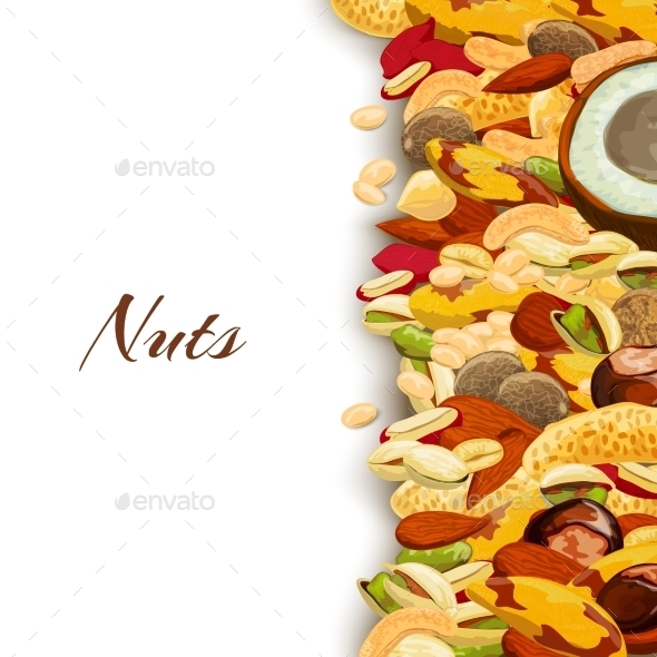 Nuts Mix Background - Food Objects