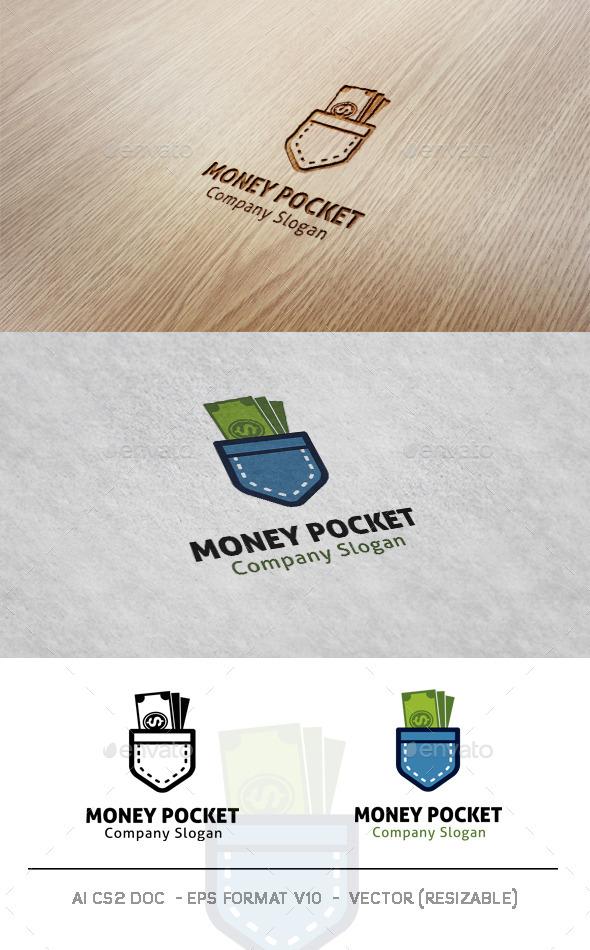 Money Pocket Logo - Objects Logo Templates