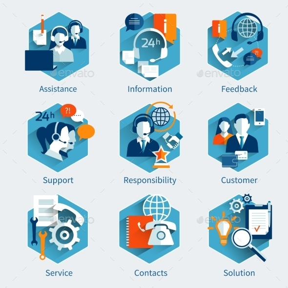 Customer Service Concept Set - Concepts Business