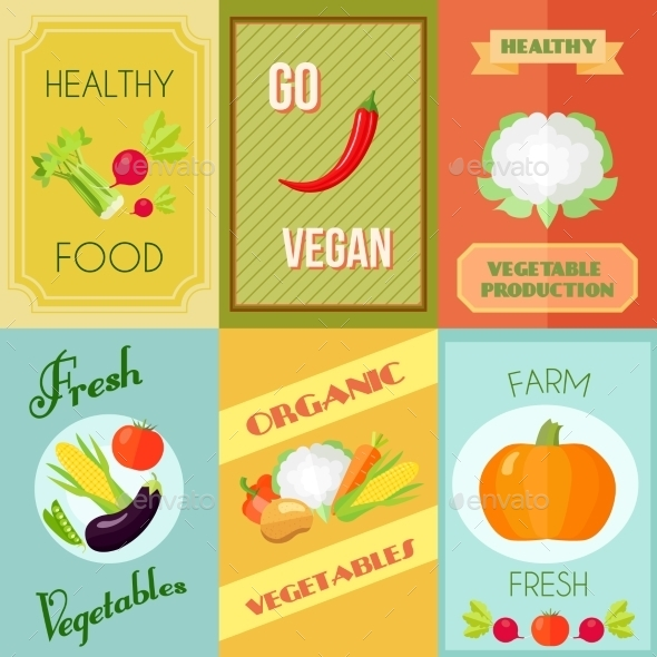 Healthy Food Mini Poster Set - Food Objects