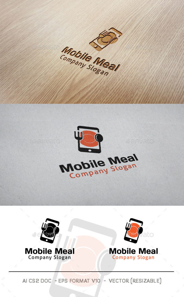 Mobile Meal Logo  - Food Logo Templates
