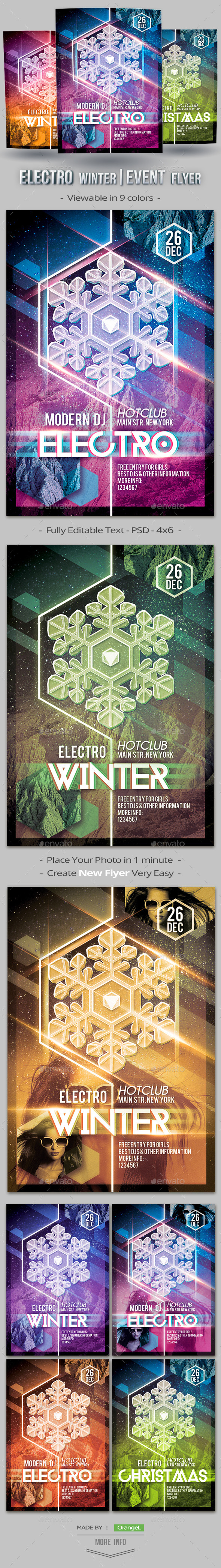 Electro Winter Event Flyer Template - Events Flyers