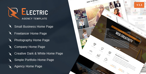 Electric – Multipurpose HTML Site Template
