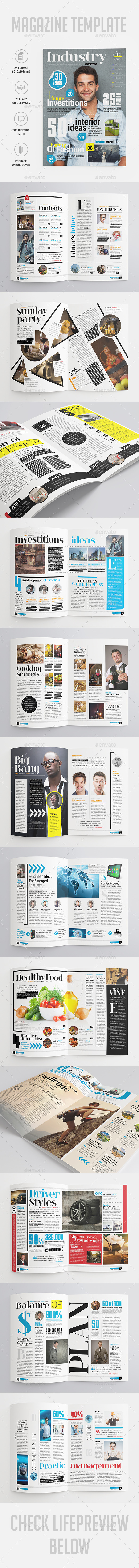 Industry Magazine - Magazines Print Templates