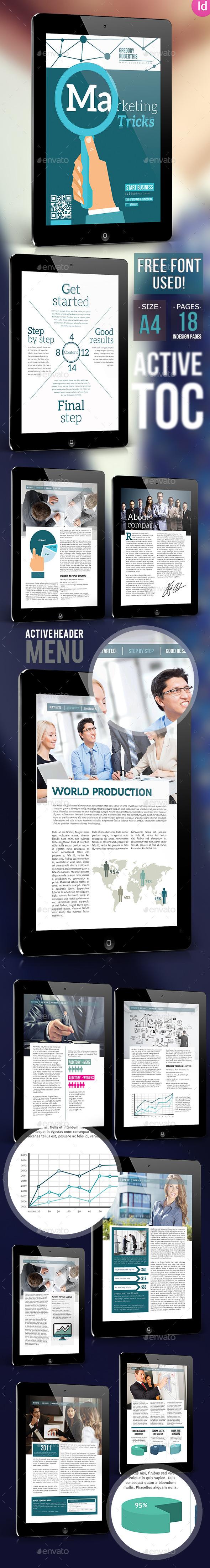 Marketing Trick E-book For Indesign - Digital Books ePublishing