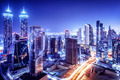 Dubai downtown night scene - PhotoDune Item for Sale