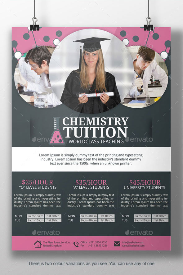 Chemistry Tutor Flyer Template By Blogankids  Graphicriver