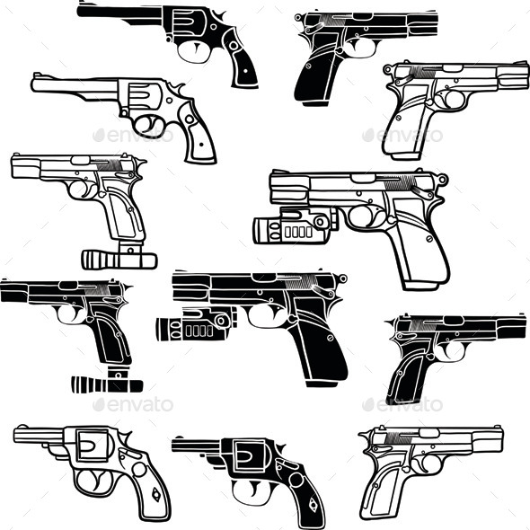 Pistols - Man-made Objects Objects
