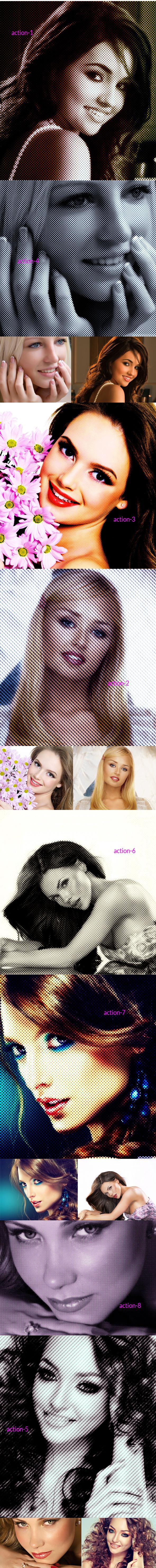 Halfatone Action - Actions Photoshop