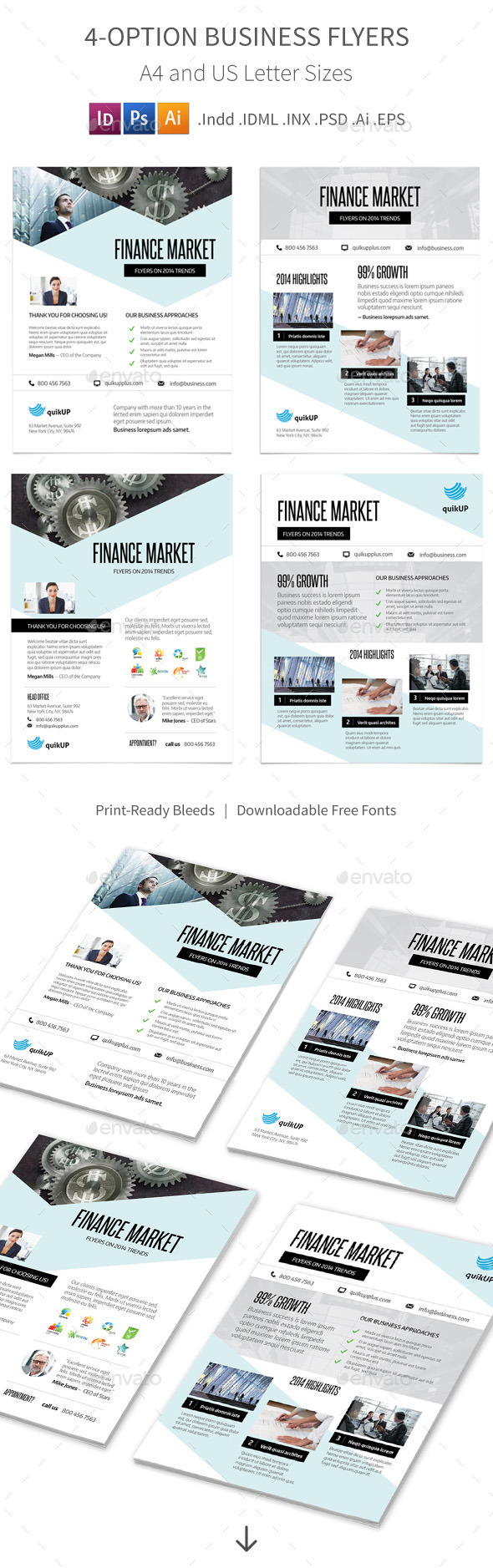 Business Flyers – 4 Options - Corporate Flyers