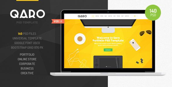 QARO – Clean & Modern PSD Template