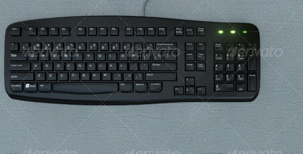 Realistic keyboard - 3DOcean Item for Sale