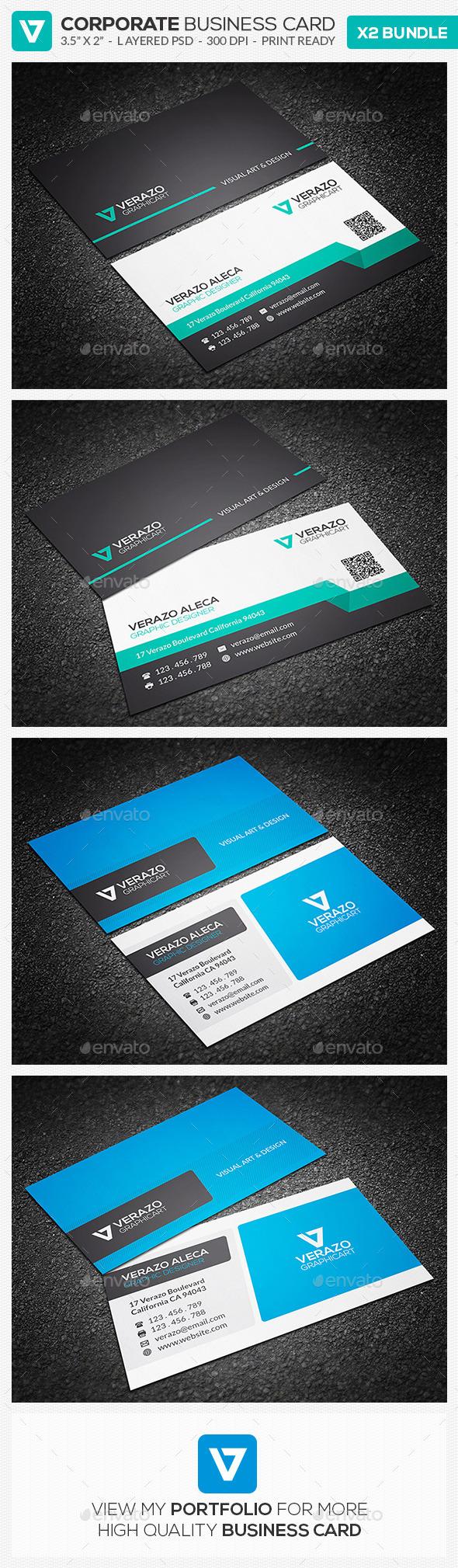 Business Card Bundle 13 - Corporate Business Cards