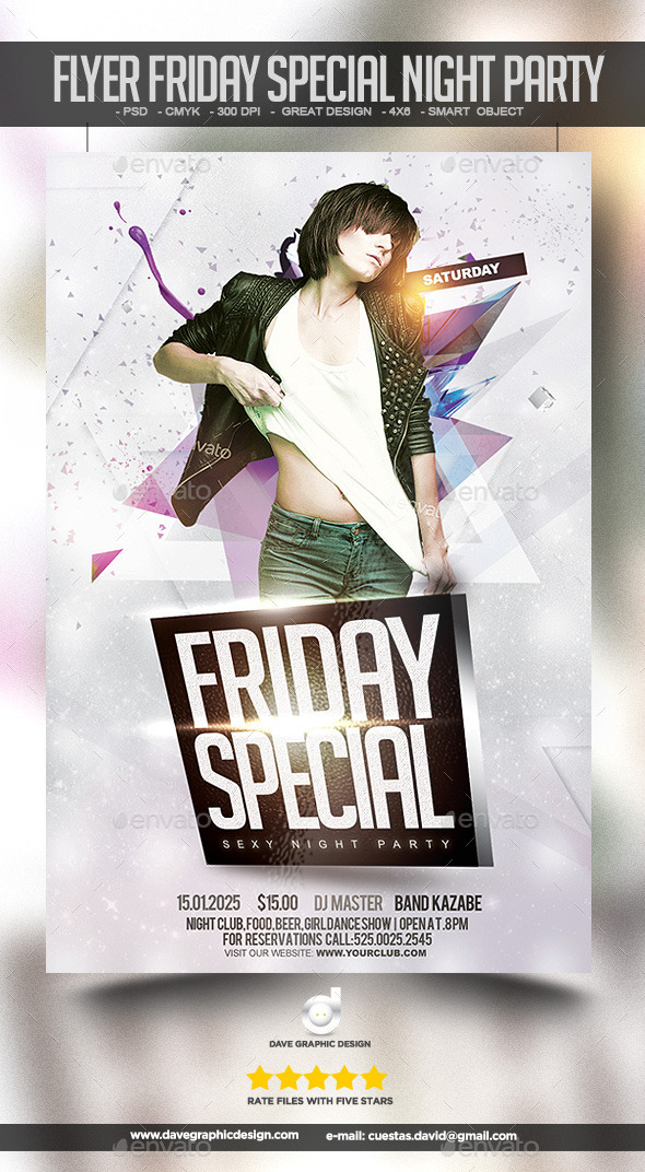 Flyer Friday Special Night Party - Clubs & Parties Events