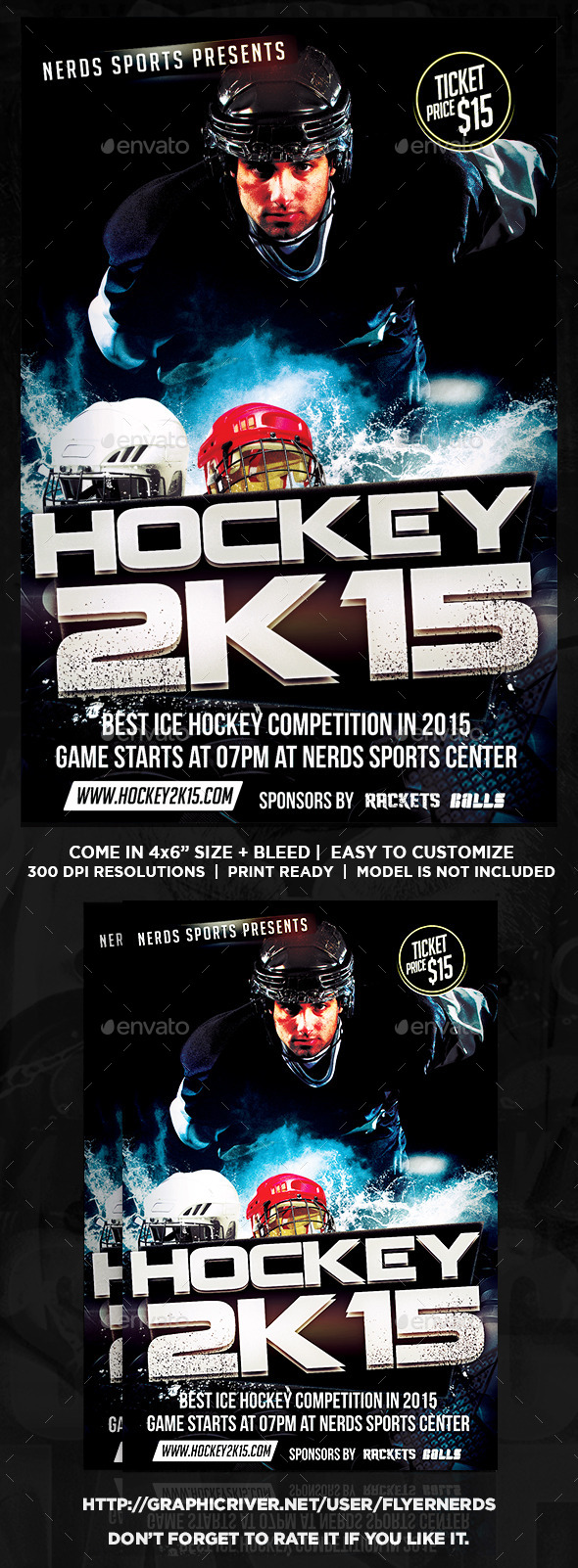 Ice Hockey Tournament Sports Flyer - Sports Events
