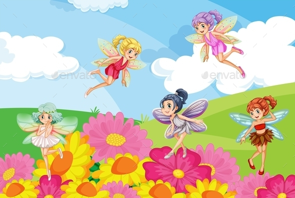 Garden with Fairies - Miscellaneous Characters