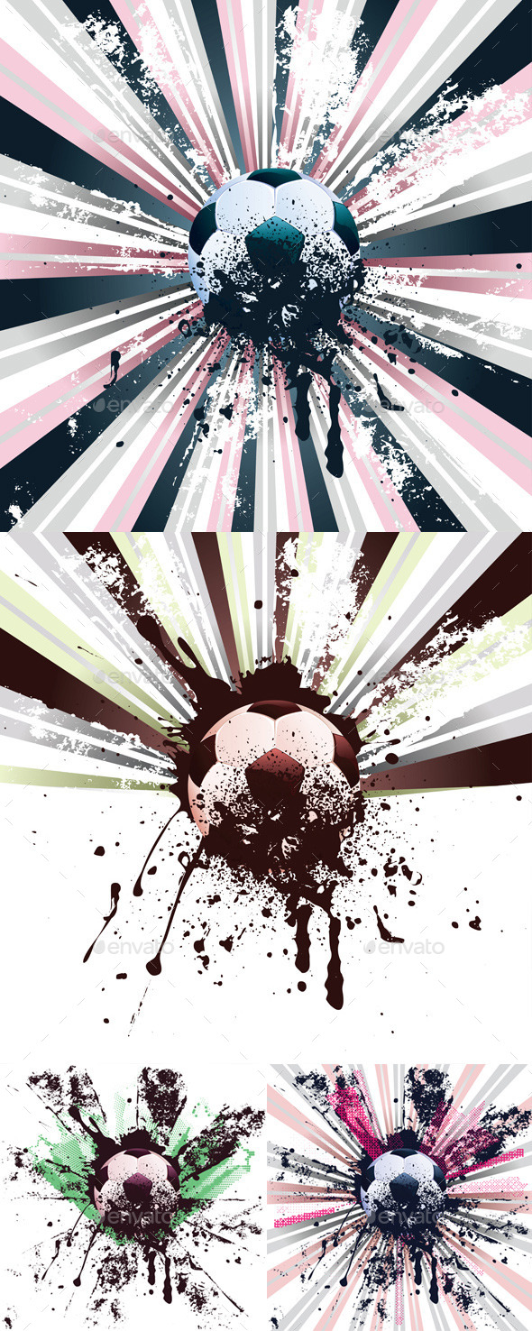 Grunge Soccer - Sports/Activity Conceptual