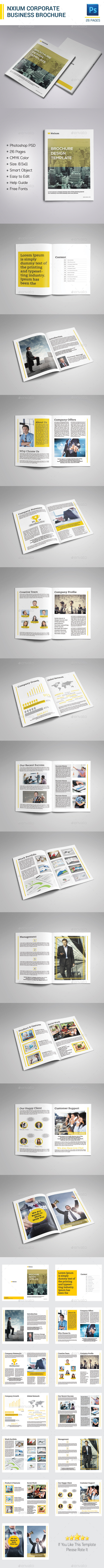 Nxium Brochure Template - Corporate Brochures