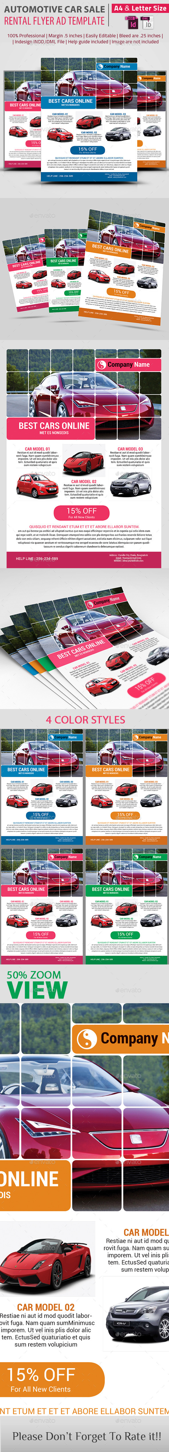 Automotive Car Sale  Rental Flyer Ad Template - Corporate Flyers