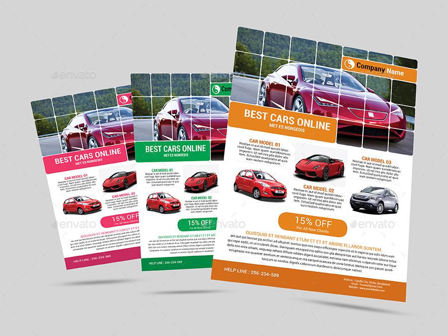 Automotive Car Sale Rental Flyer Ad Template by AlMamun – Car Sale Flyer