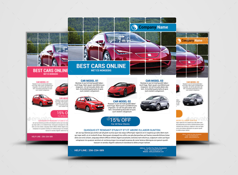 Automotive Car Sale Rental Flyer Ad Template By AlMamun