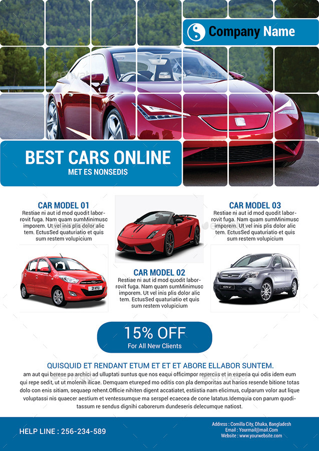 Automotive Car Sale Rental Flyer Ad Template By AlMamun  Graphicriver