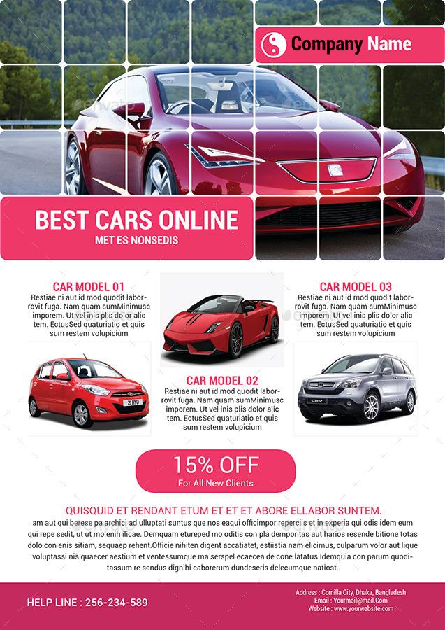 Automotive Car Sale Rental Flyer Ad Template by Al-Mamun | GraphicRiver