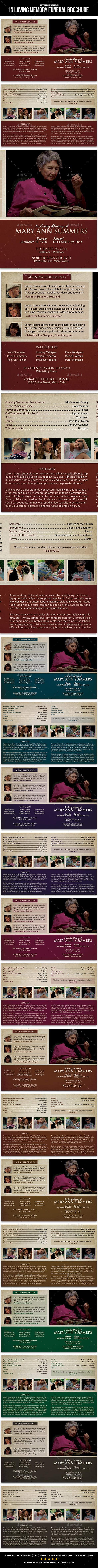 In Loving Memory Funeral Brochure - Informational Brochures