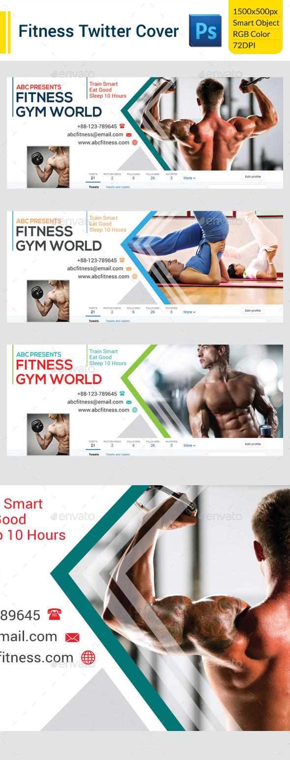 Fitness Twitter Cover - Twitter Social Media