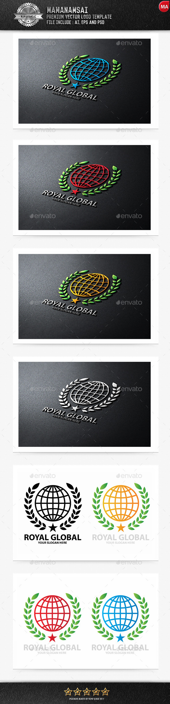 Royal Global Logo - Logo Templates