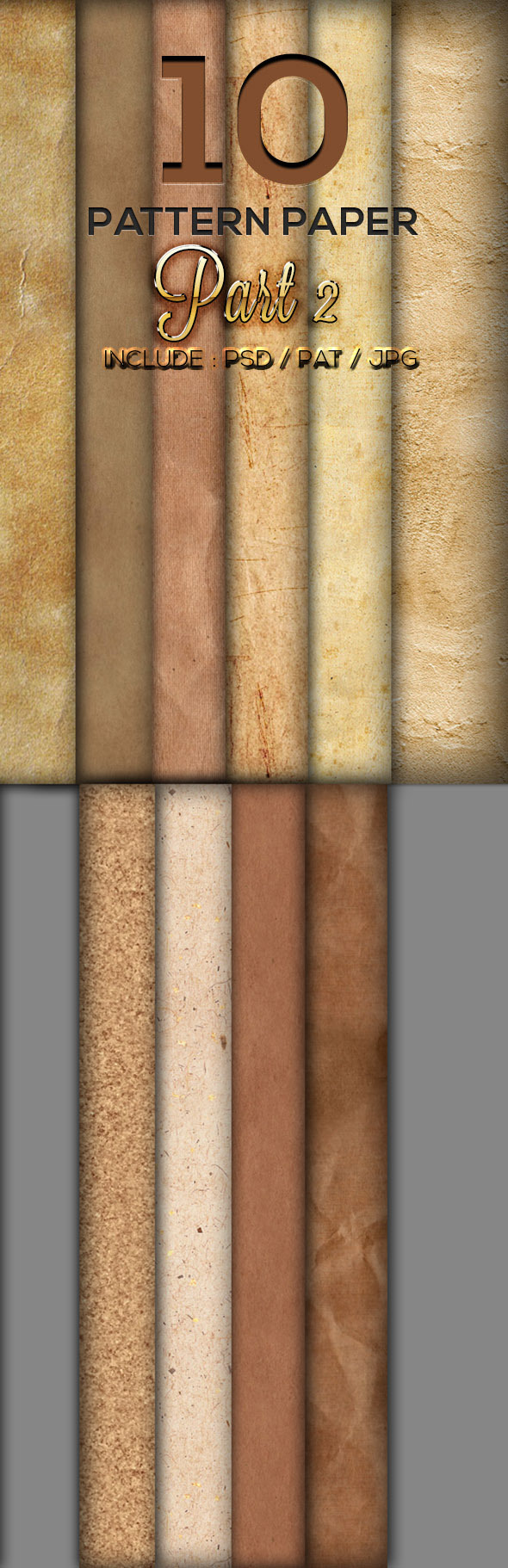 10 Paper Texture Part 2 - Textures / Fills / Patterns Photoshop