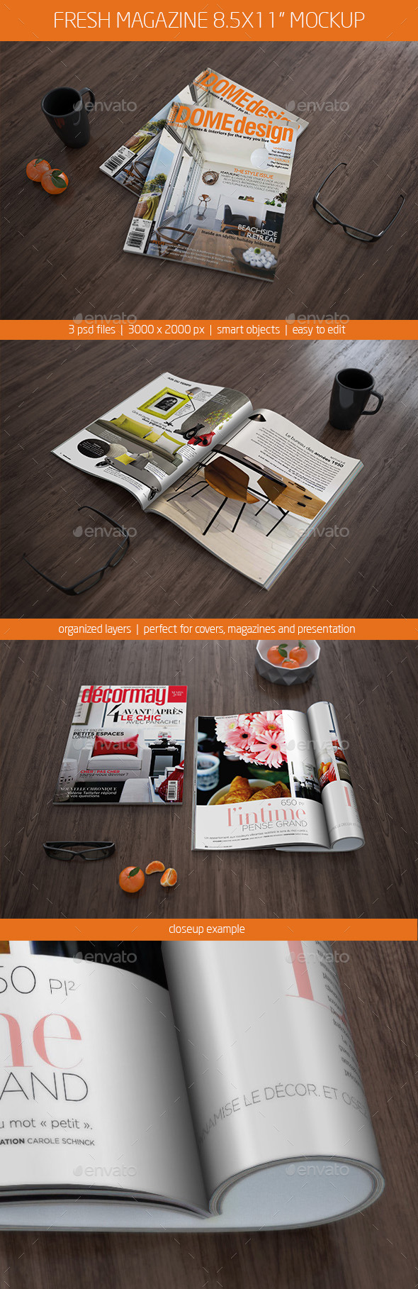 "Fresh Magazine Mockup 8.5x11"" - Magazines Print"