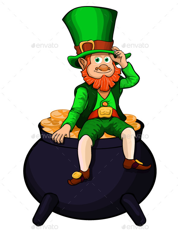 Saint Patrick Holiday - People Characters