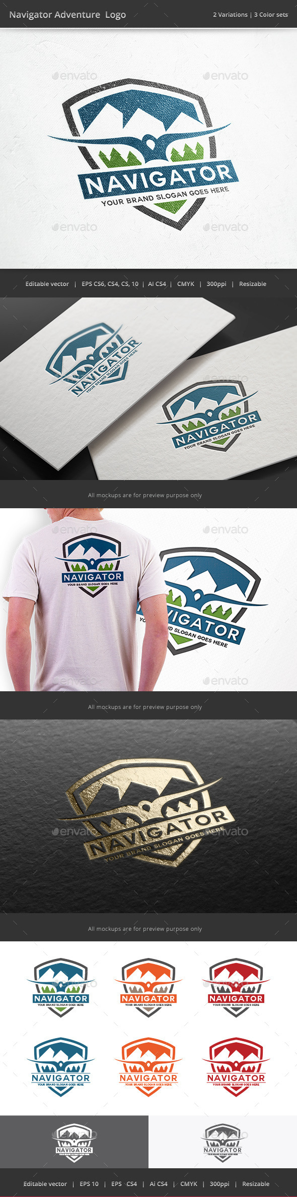 Navigator Adventure Logo - Crests Logo Templates