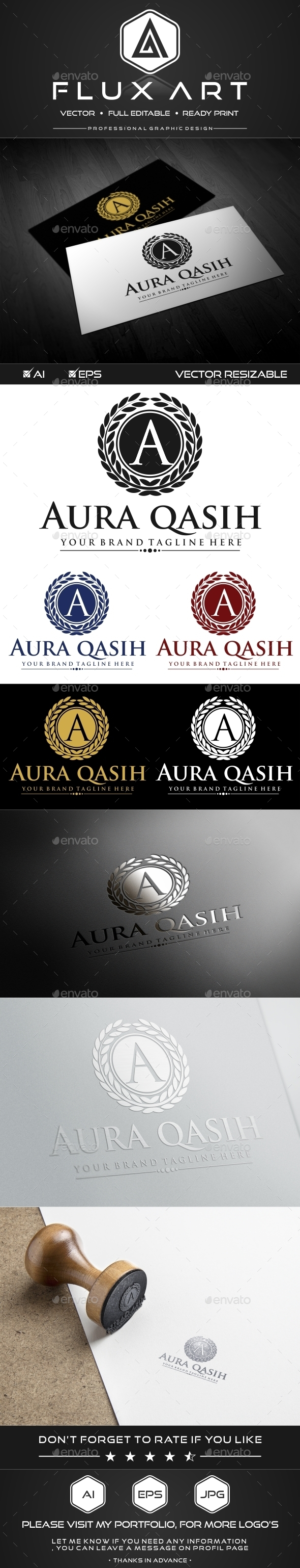 A Luxury Logo - Crests Logo Templates